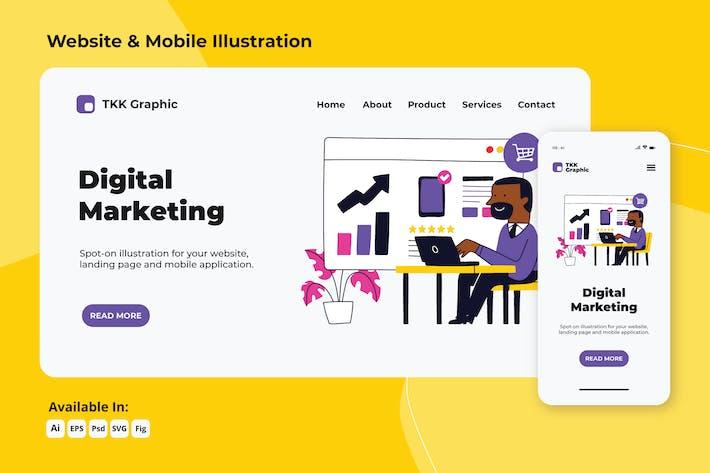 Digital Marketing web and mobile designs