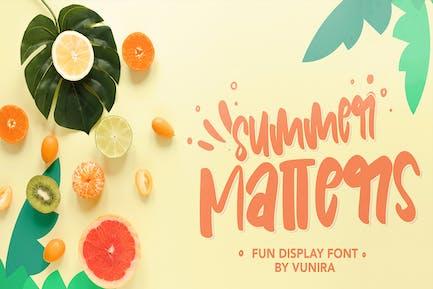 Summer Matters   Fun Display Font