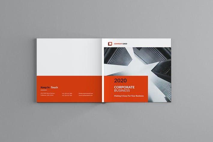 Thumbnail for Lothar - Square Corporate Brochure Template