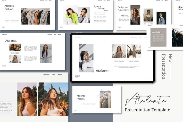 Thumbnail for Atalanta Fashion - Google Slides Template