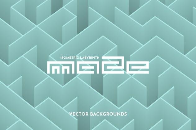 Isometric Maze Vector Backgrounds