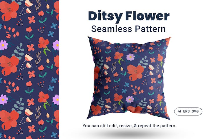 Thumbnail for Seamless Pattern Ditsy Flower