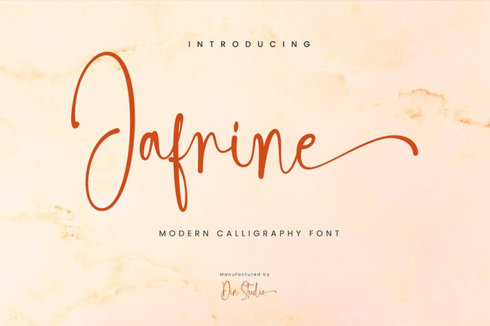 Thumbnail for Jafrine-Modern Caligrafía Fuente