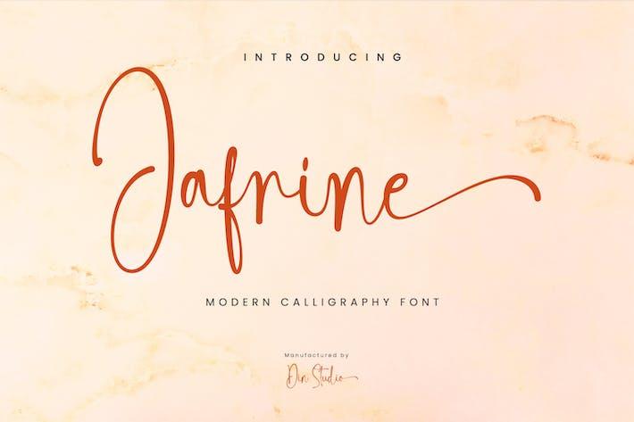 Thumbnail for Jafrine-Modern Calligraphy Font