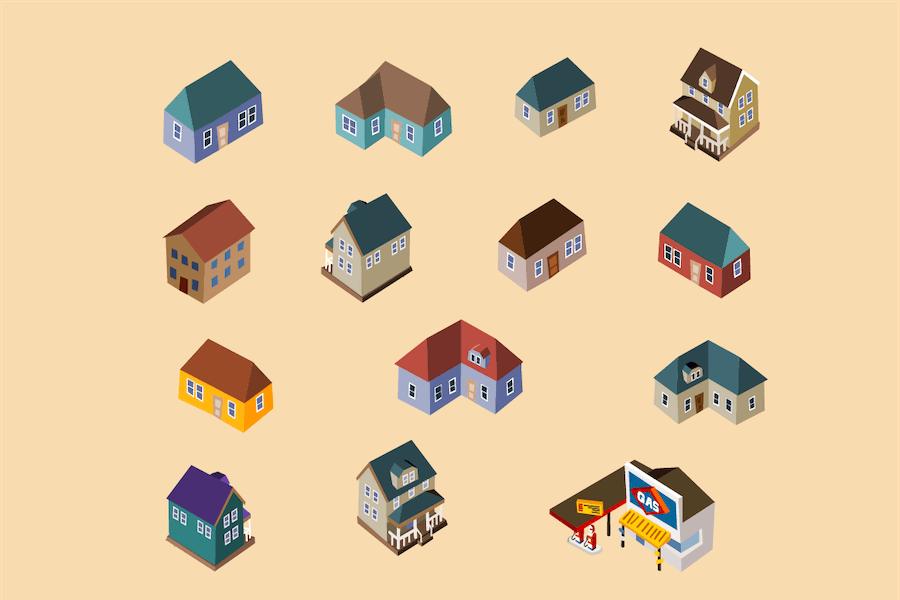 house isometric