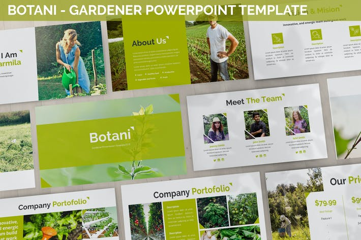 Ботани - Шаблон Powerpoint садовника