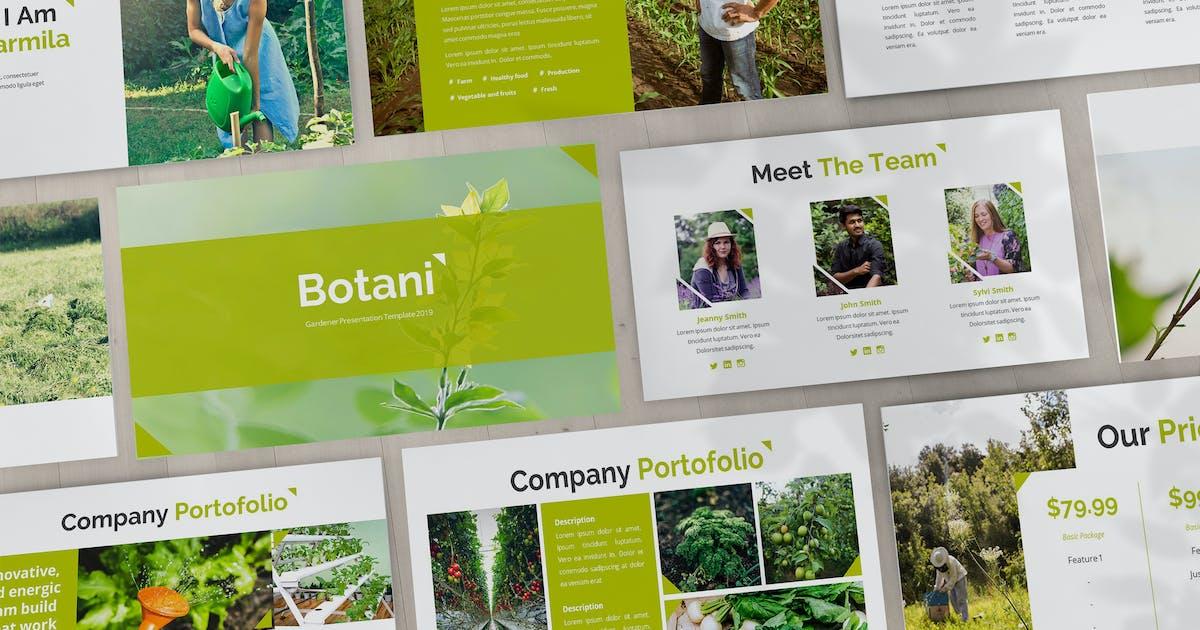 Download Botani - Gardener Powerpoint Template by SlideFactory