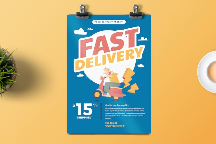 Thumbnail for Delivery Service Flyer