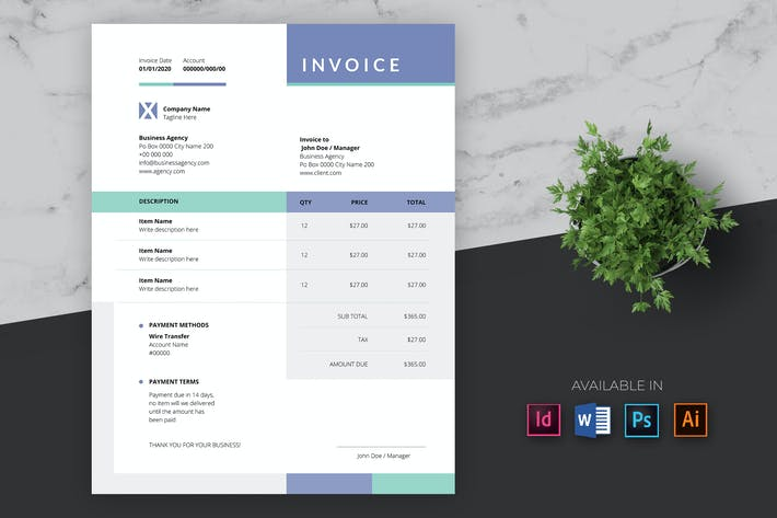 Thumbnail for Clean Invoice Pro Template