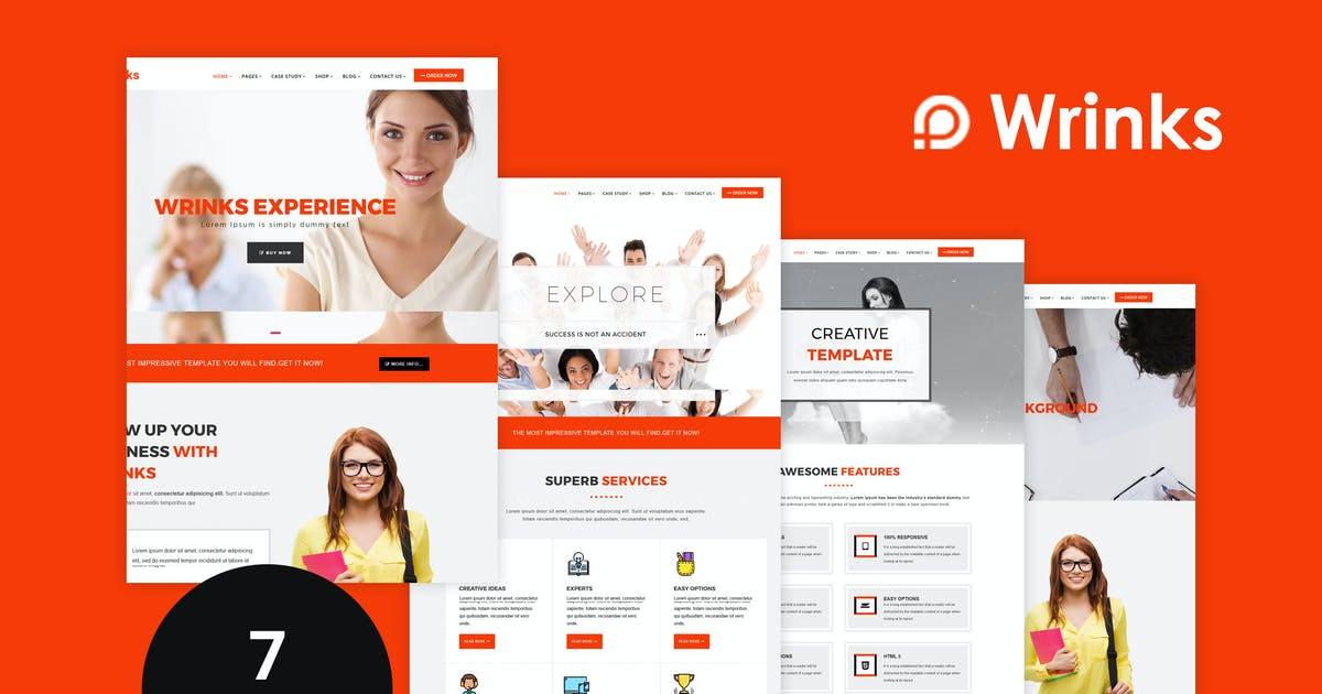 Download Wrinks - Multipages Business HTML5 Template by codelayers