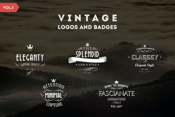 Thumbnail for Vintage Logos and Badges Template - Vol.3