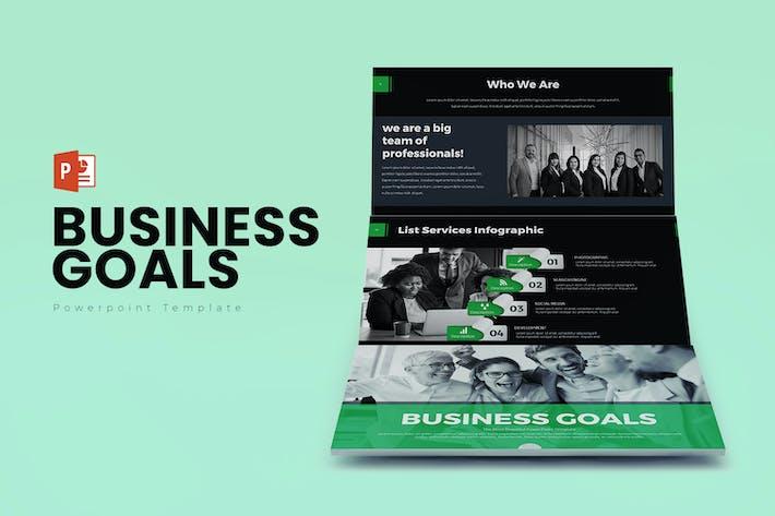 Thumbnail for Geschäftsziele PowerPoint Präsentation