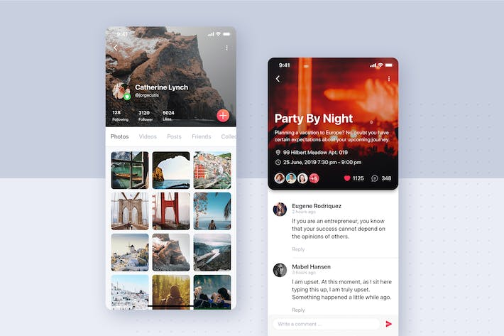 Thumbnail for Post Details mobile app UI concept