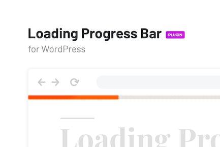 Cargando barra de progreso para WordPress