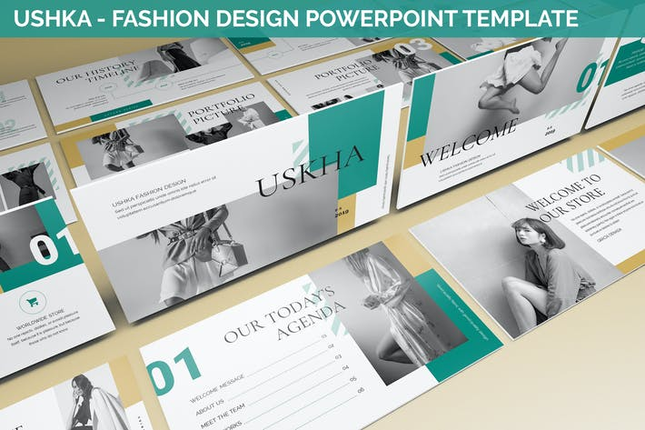 Thumbnail for Ushka - Fashion Design Powerpoint Template