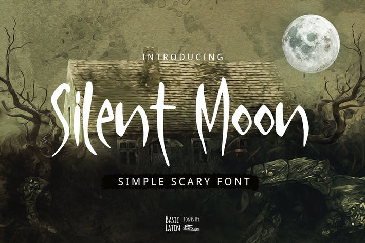 Thumbnail for Silent Moon Scary Font