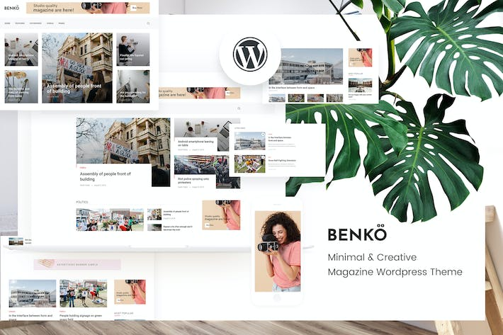 Thumbnail for Benko - Creative Magazine WordPress Theme