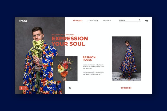 Thumbnail for Trend Fashion Hero Header PSD Template
