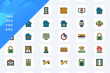 40 Home Automation Icons