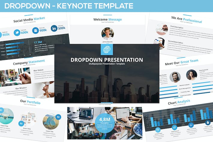 Thumbnail for Dropdown Keynote Presentation Template