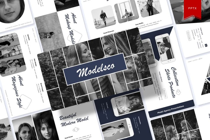 Thumbnail for Modelsco | Powerpoint Template