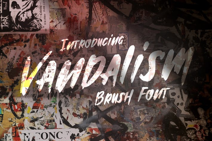 Thumbnail for Vandalism - Urban Street Brush Font