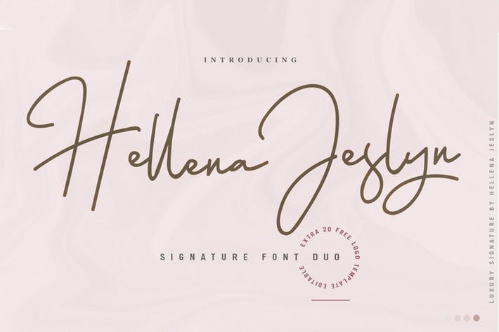 Thumbnail for Hellena Jeslyn Font Duo
