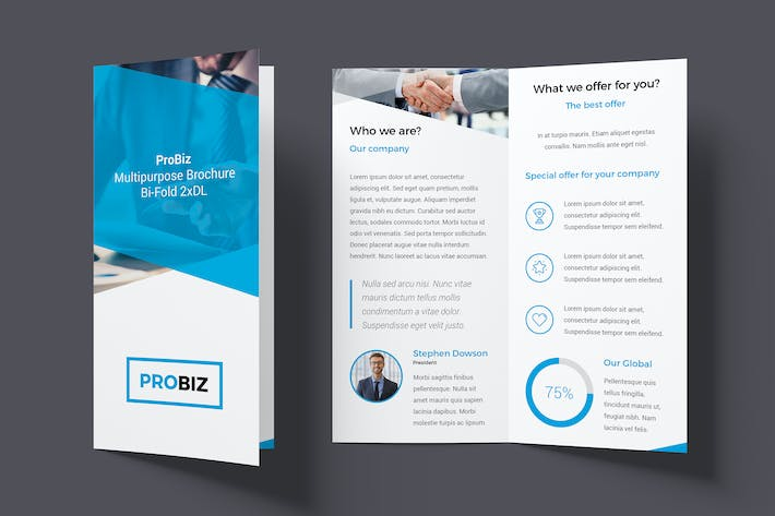 Thumbnail for ProBiz – Brochure Bi-Fold DL