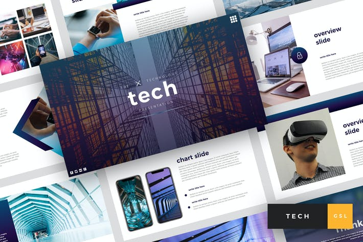 Thumbnail for Tech - Technology Google Slides Template