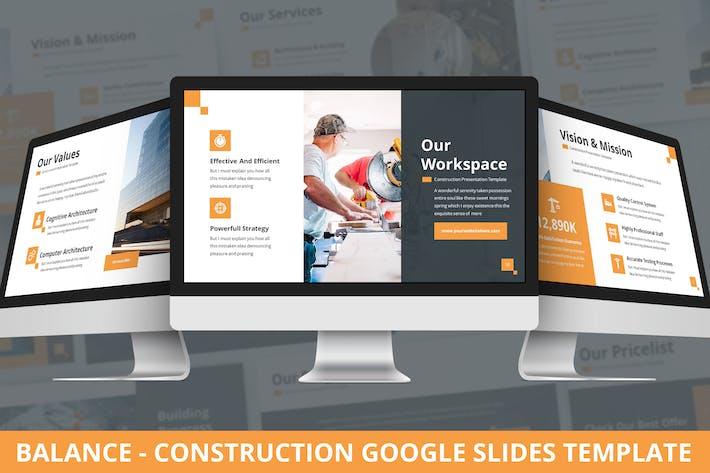 Thumbnail for Balance - Construction Google Slides Template