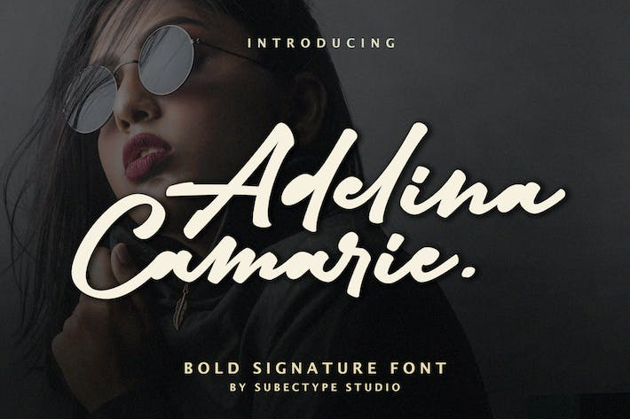 Thumbnail for Adelina Camarie - Bold Signature Font
