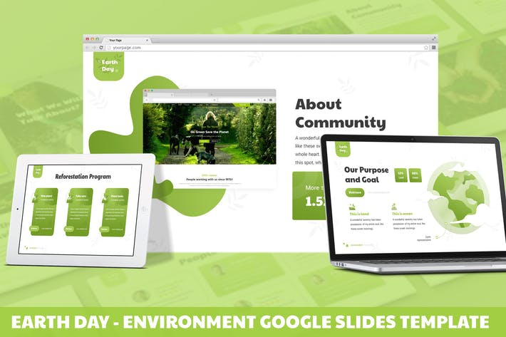 Thumbnail for Earth Day - Environment Google Slides Template