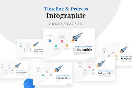 Business Diagram Rocket Infographic