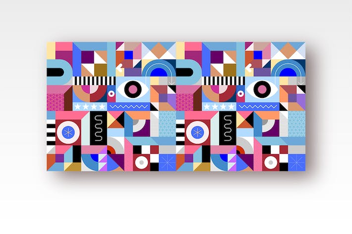 Thumbnail for Abstract Geometric Art vector illustration