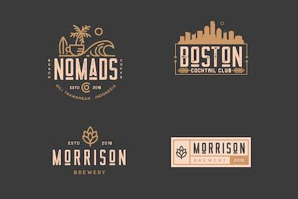 Coffee, Brewery, Restaurant, Badge Logo Kit