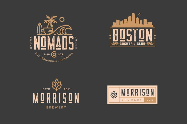 Thumbnail for Coffee, Brewery, Restaurant, Badge Logo Kit