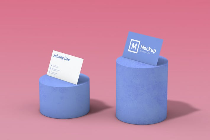 Business Card On A Base Mockup