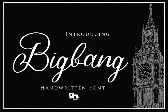 Thumbnail for Bigbang - Fuente manuscrita