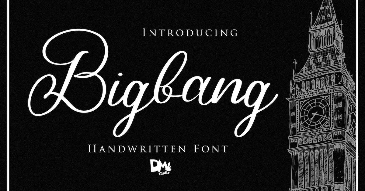 Download Bigbang - Handwritten Font by DmLetter