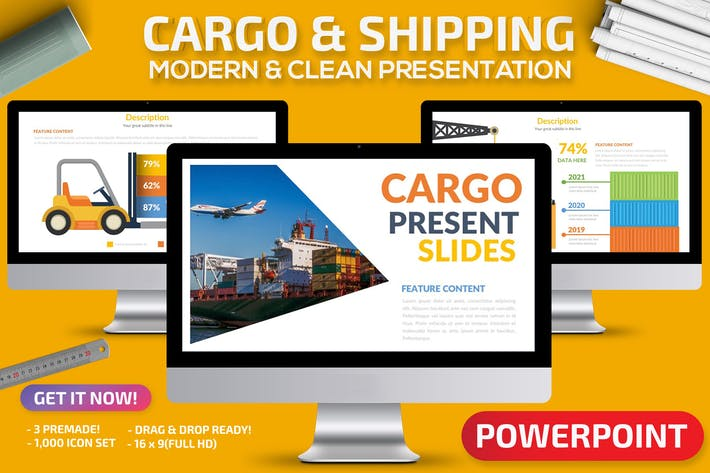 Thumbnail for Cargo & Shipping Powerpoint Präsentation