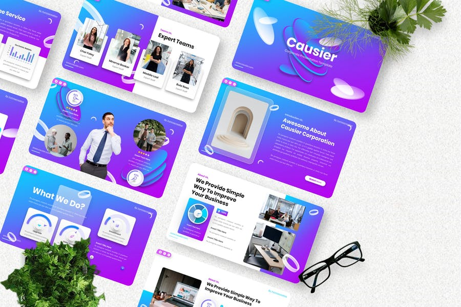 Causier - Corporate Googleslide Templates