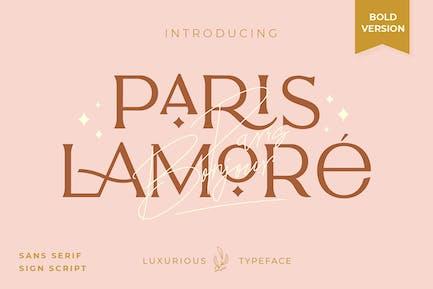 Lamore Sans & Script Tipo de letra - Versión en negrita