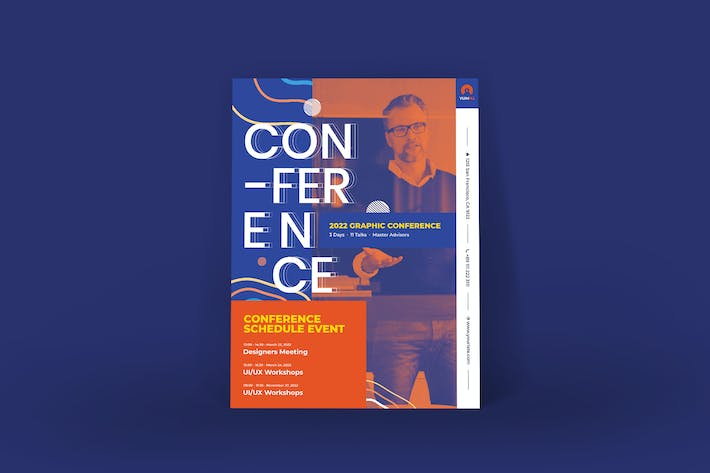 Cover Image For Conference Poster PSD Template