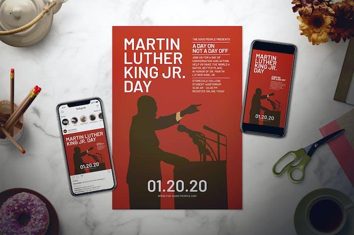 Martin Luther King Jr. Day Flyer Set