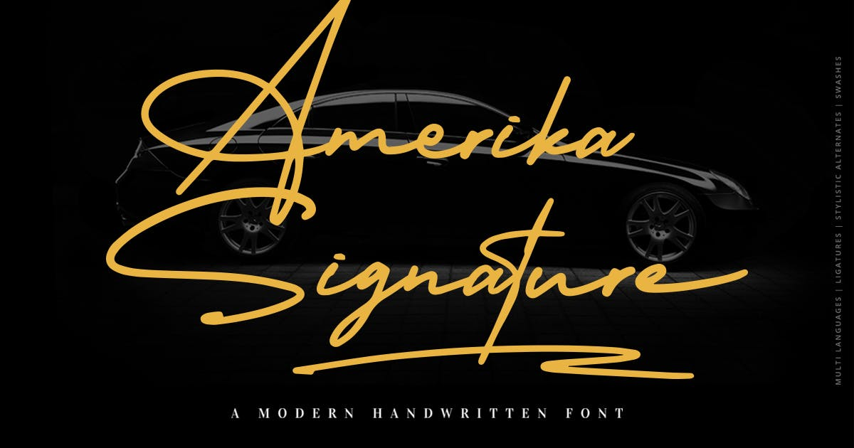 Download Amerika Signature by Scratchdesignbali