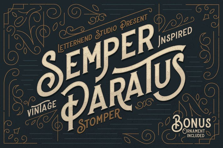 Thumbnail for Stomper - A Vintage Display Font