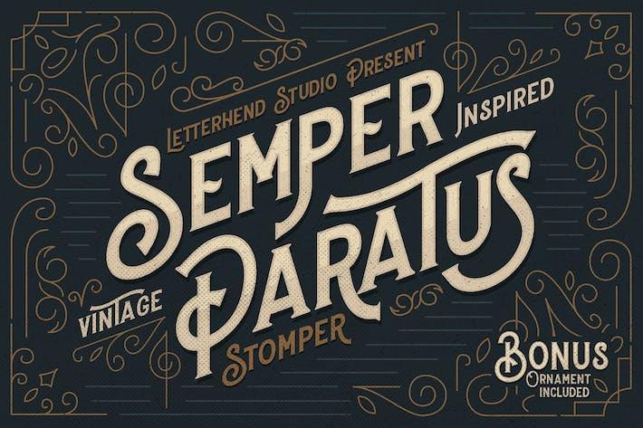 Thumbnail for Stomper - Une police d'affichage vintage