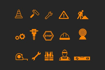 15 Under Construction Icons