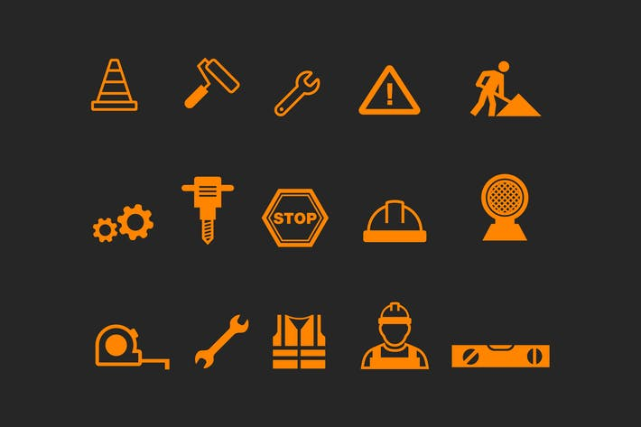 Thumbnail for 15 Under Construction Icons