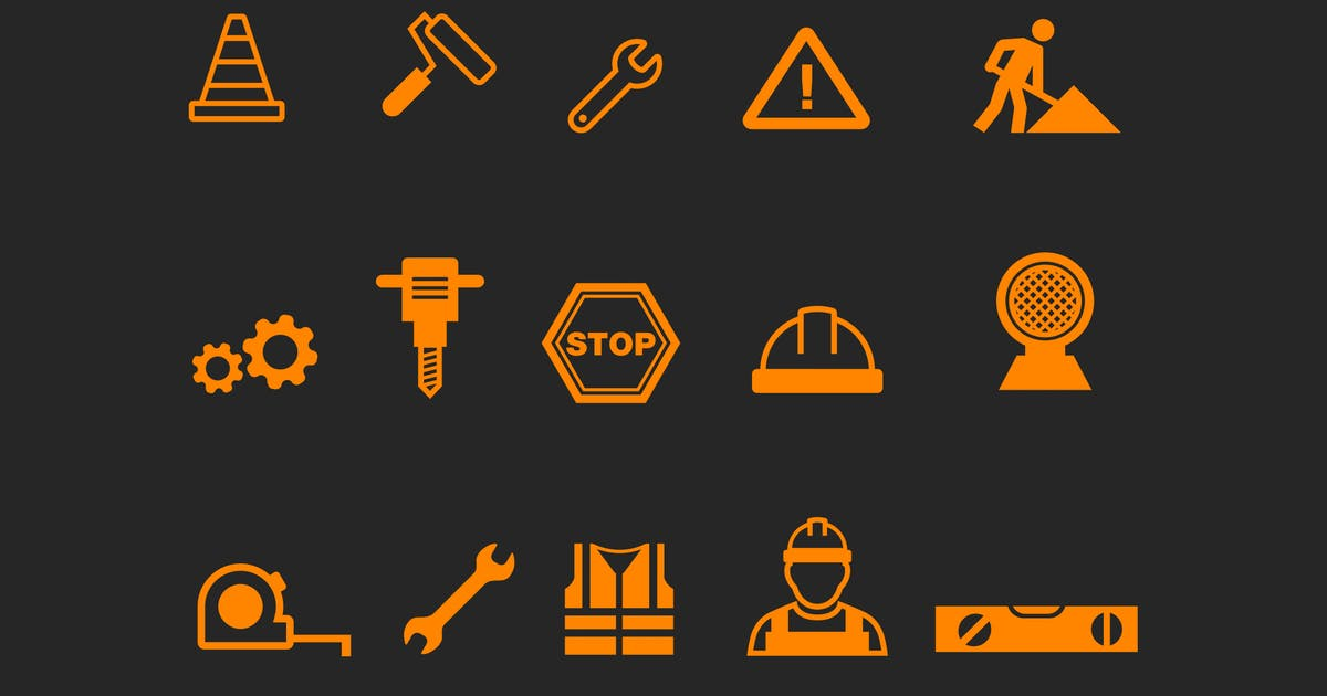 Download 15 Under Construction Icons by creativevip